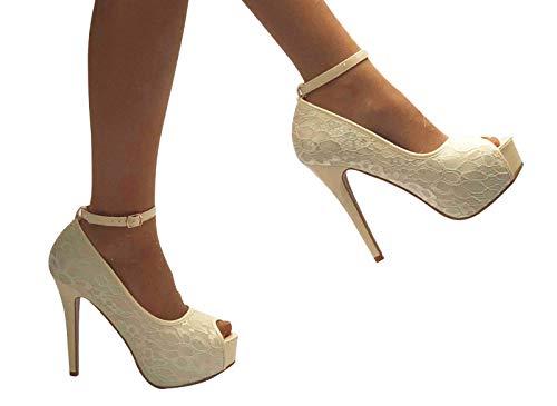 alla Beige Box Cinturino Boutique Shoe Donna Con Caviglia w7dIxx0q