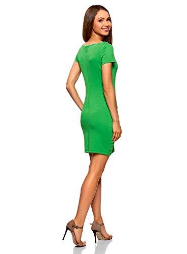 Ultra oodji Maille Bateau Robe Vert Col Femme 6a00n AxxwP8q1C
