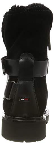 Tommy Hilfiger Damen Reflective Detail Biker Boot Stiefeletten, Schwarz (Black 990), 38 EU 3