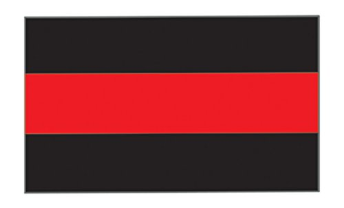 "Thin Red Line Firefighter and EMT Sticker 5x3"" Vinyl Decal For Cars, Trucks, RV SUV's & Boats - Support Of Fire Fighters Fireman EMTs (red Line 1) - Firefighter Emt Decals"