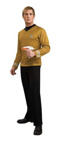 Star Trek Movie Deluxe Gold Shirt, Adult Large Costume