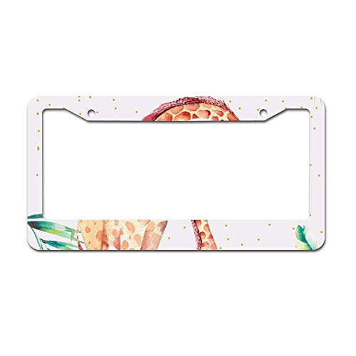 (Headwind Tactical License Plate Frame Custom Design - Front Trim tag 12 x 6 inches Abstract Art Tropical Jungle Animals)