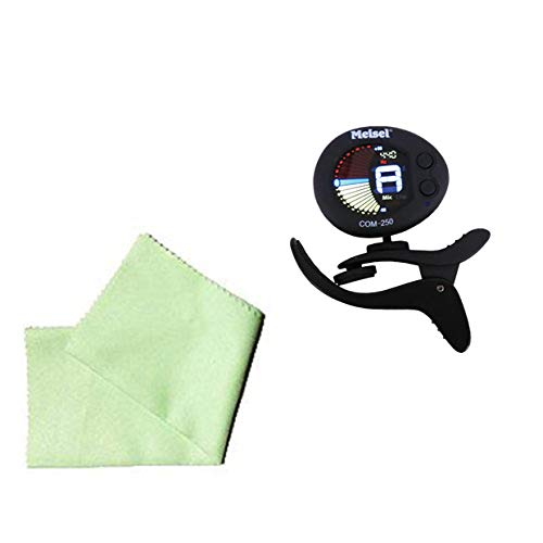 (Upright Bass Tuner Pack - Meisel COM-250 Tuner Includes Bonus Bass Cleaning Cloth)