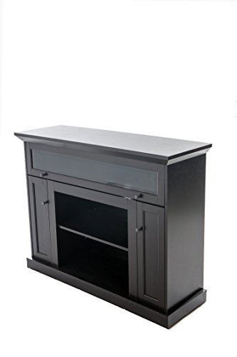 es TV12355 Taylor Hardwood TV Stand with Shelves and Cabinets for Components, Espresso Finish (Plasma Tv Media Cabinets)