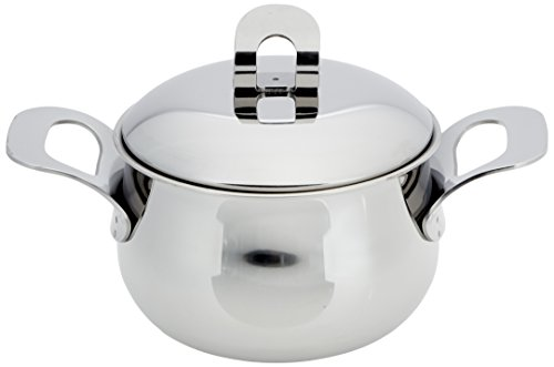(ExcelSteel Made in Italy 2 QT Stainless Stockpot W/Sandwiched Base)
