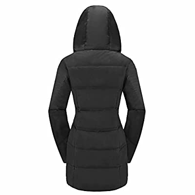Valuker Women's Seamless Hooded Down Coat Jacket Puffer Parka Winter Jacket