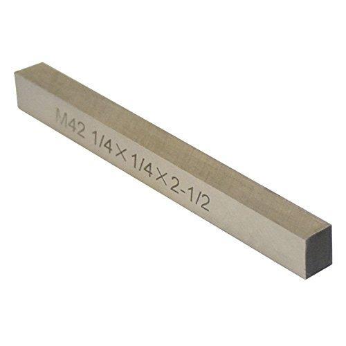 M42 1/4'' x 1/4'' x 2-1/2'' Cobalt Steel Square Tool Bit Lathe Fly Cutter Mill Blank