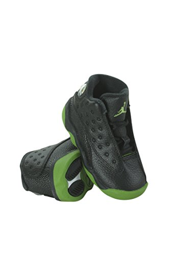 414581-042 Kids Toddler Jordan 13 Retro BT Jordan Black/Altitude Green-White by NIKE