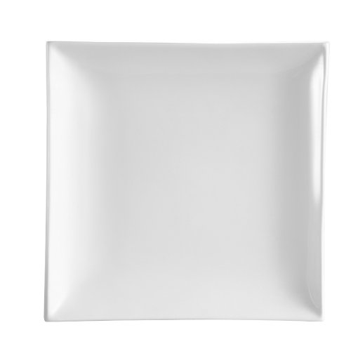 - CAC China TOK-16 Tokyia Super White Porcelain Thick Square Plate, 10-Inch, Box of 12