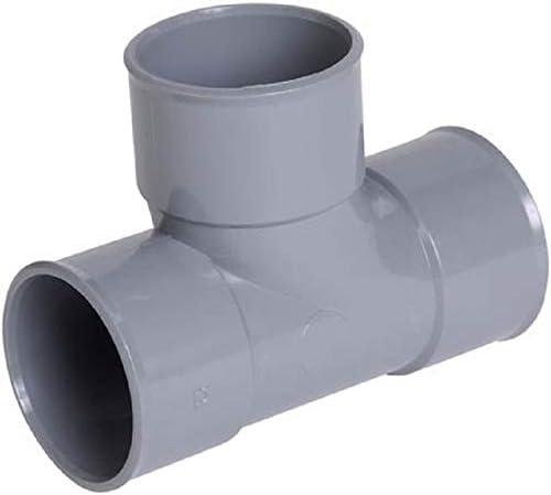 Diam/ètre 32mm T/é PIED DE BICHE PVC 87/°30 FEMELLE 32 40 50 RACCORD JONCTION TUBE EVACUATION T EAUX USEES GRIS