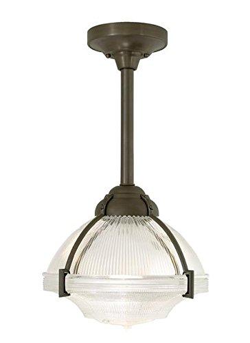 Tech Lighting 600UNLS24FS-CF Union Large 1-Light CFL Pendant with Frost Holophane Glass Shade, Satin Nickel Finish