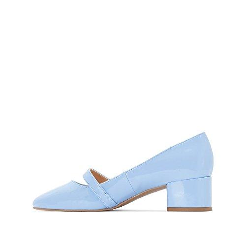 Mademoiselle R Frau Ballerinas mit Absatz und Schnalle Gre 41 Blau