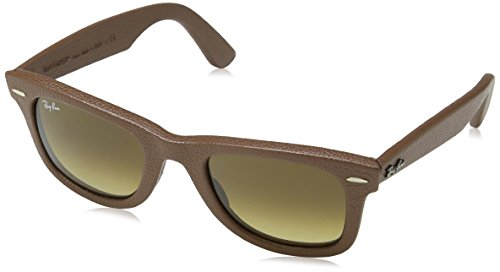 Ray-Ban 2140QM 116985 Leather Brown Wayfarer - Sunglasses Leather Ban Ray