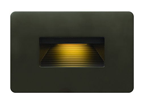 Hinkley Landscape Lighting LED Luna Step Light - Add Safety and Security Indoors and Outdoors, ADA Compliant and Energy Efficient Small Step Light, Bronze Finish, 58508BZ