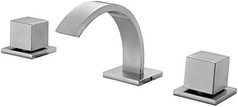 ALFI brand AB1326-BN Brushed Nickel Modern Widespread Bathroom Faucet