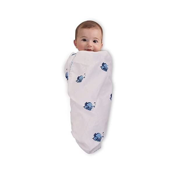 Mom's Home Premium Cotton Swaddling Receiving Blanket/Bedspread- Baby wrap – 100×100 cm – 0-2 Years
