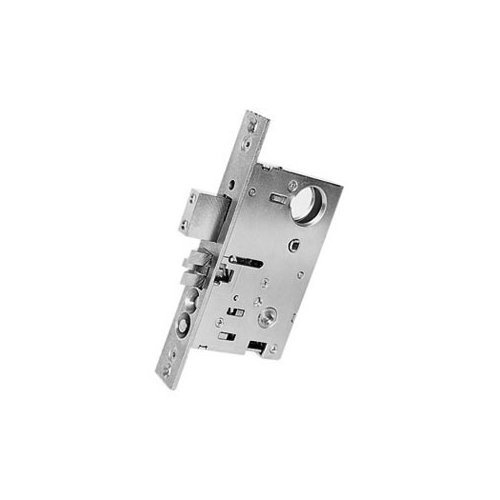 Baldwin 6320.150.L Left Handed Handleset and Knob Entrance Mortise Lock with 2-1/2-Inch Backset, Satin Nickel - Handleset Entrance Mortise