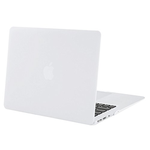 Mosiso Plastic Hard Case Cover for MacBook Air 13 Inch (Models: A1369 and A1466), White