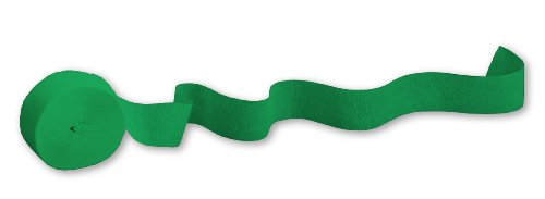 Price comparison product image Emerald Green, 81' Crepe Paper Streamer, 1 ct