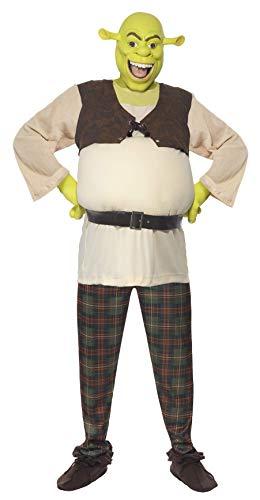 Smiffy's Men's Shrek Costume, Padded Top, Trousers & Mask, Shrek, Size: -