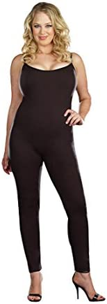 Dreamgirl Womens Plus-Size Basic Unitard Dress