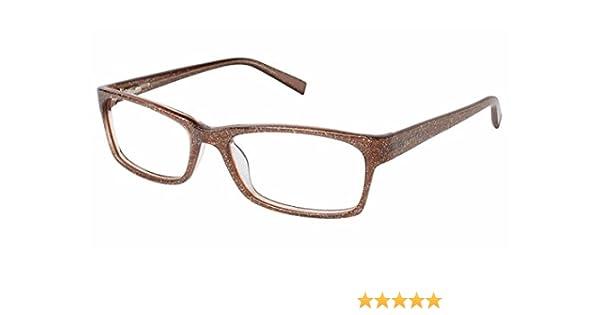 a3007e17b4e Amazon.com  Esprit Eyeglasses ET17467 ET 17467 560 Metallic Brown Optical  Frame 52mm  Clothing