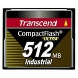 Transcend TS512MCF100I - Tarjeta de memoria CF (512 MB, 40 MBit/s, 100x)