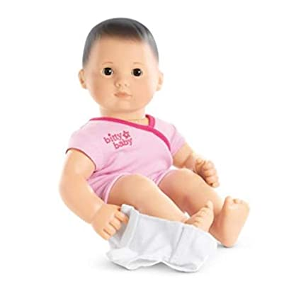 Amazon.com  American Girl - Bitty Baby Doll Light Skin Dark Brown ... 5067bb2d6