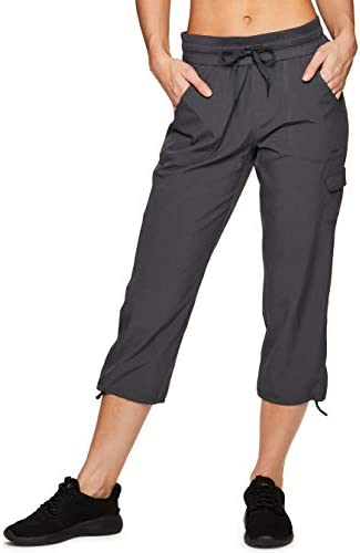 RBX Active Women's Fashion Lightweight Stretch Woven Body Skimming Drawstring Capri Pant