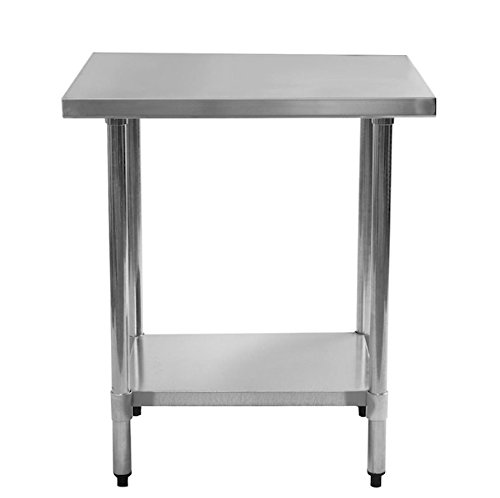 24' x 36' Stainless Steel Commercial Kitchen Work Food Prep Table Kitchen Island Kitchenaid Commercial Home Restaurant Business Application Large Storage