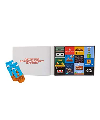 Nintendo unisex-adult's Classic 12 Days Advent Box, assorted dark, Fits Sock Size 9-11 Fits Shoe Size 4-10.5 (Girls/Womens) & Fits Shoe Size 4-9 (Boys) (Day Christmas 2019)