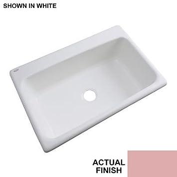 33x19 single bowl kitchen sink manhattan undermount acrylic 33x195x9 0hole single bowl kitchen sink in dusty rose