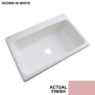 Thermocast Manhattan 33 In. x 22 In. Cast Acrylic Undermount Single Bowl Kitchen Sink, Wild Rose - Manhattan Undermount Acrylic