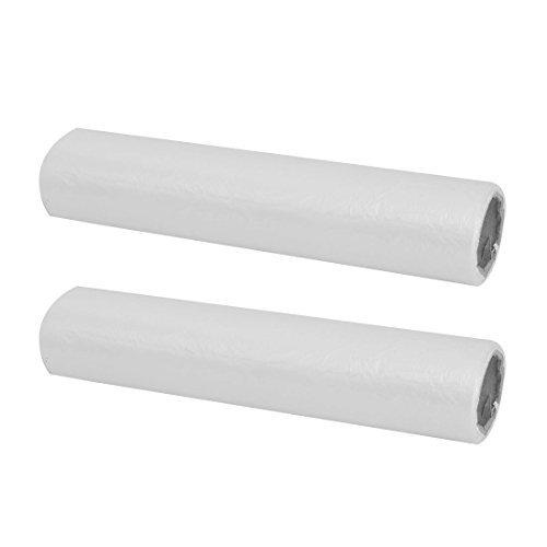 DealMux Polyethylene Household Vegetable Fresh Keeping Food Storage Bag Roll 2pcs White