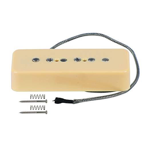 (FLEOR Electric Guitar Bridge Pickup Cream P90 Soap Bar Pickups - Alnico 5)