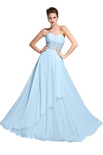 Sunvary - Vestido - para mujer azul claro