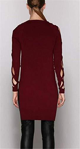 Solidi Rot Tops Chic Scavare Fashion Unico Neck Bluse Colori Casual Lunga Manica Primaverile Ragazza Donna Tunica Shirts V Asimmetrica Hipster Autunno Eleganti Irregular Camicetta fqzwgHU