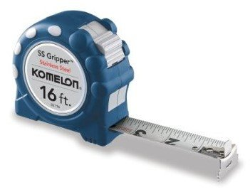Komelon Tape Measure -- 16 Foot Stainless Steel Gripper