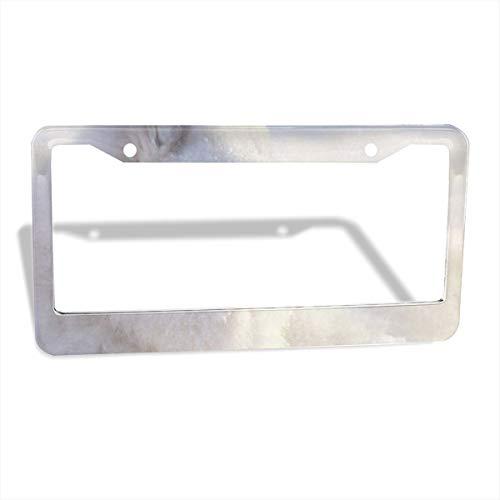- Love beautiful Lying Samoyed Dog License Plate Frames Slim Size Metal Aluminum Custom License Plate Cover Large Size Frame Shock Pad Bonus Car Non-Slip Mat 2 Holes/2 Pack 12