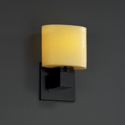 - Justice Design Group CNDL-8707-30-CREM-MBLK Aero ADA Compliant Single Light Wall Sconce without Arms from the CandleAria Collection