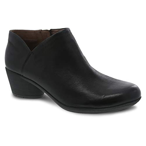 Dansko Women's Raina Black Burnished Nubuck Bootie 7.5-8 M US (Women For Dansko Shoes)