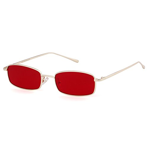 Vintage Steampunk Sunglasses Fashion Metal Frame Clear Lens Shades for Women (Rectangle Sunglasses)