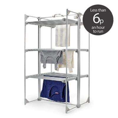 Dry:Soon Deluxe 3-Tier Heated Airer (Under 6p/Hour!)