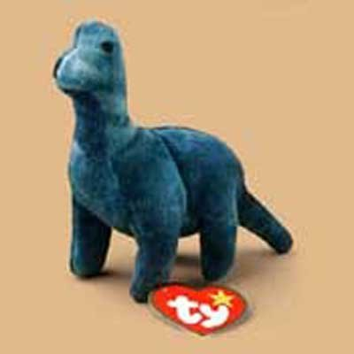 964c3ef6954 Amazon.com  Bronty the Brontasaurus McDonald s Ty Teenie Beanie SuperStar  2000  Toys   Games
