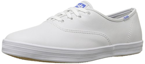 Keds Women's Champion Original Leather Sneaker,White Leather,9 M US