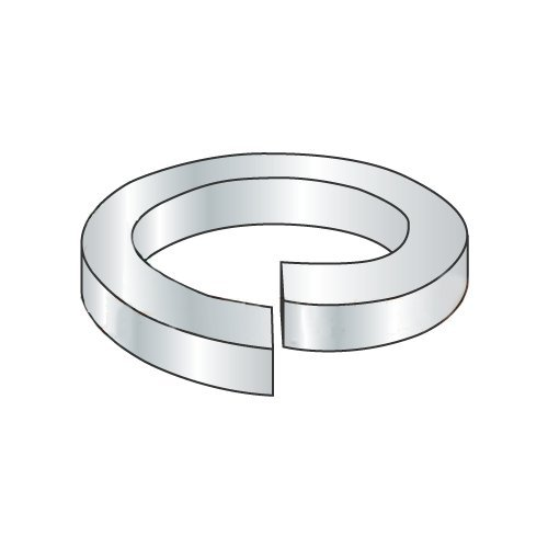 #4 Hi-Collar Split Lock Washers Medium Carbon Steel Plain Finish (Quantity: 100 pcs) - Inside Diameter: #4 inches