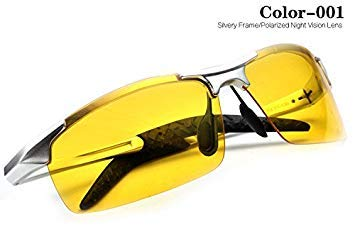 5609a0a3867 Image Unavailable. Image not available for. Colour  2017 Mens Night Vision  Glasses Polarized Sunglasses Men Yellow Goggles Driving