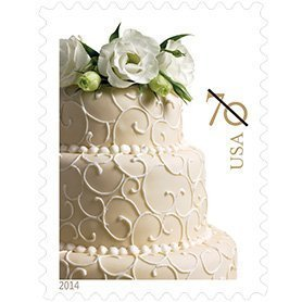 USPS Wedding Cake 70-cent Stamp 100 Stamps (5 sheet of 20): 2 ounce (Wedding Cake Stamp)