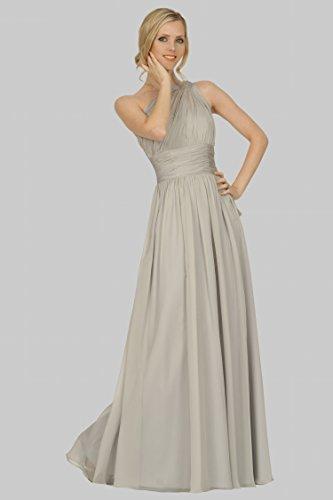de estilo de damas LightGrey EDJ1741 hombro un vestido formal de longitud acanalaba 3DC36 honor SEXYHER palabra noche nxUCBwqqP