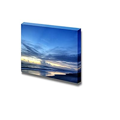 Canvas Prints Wall Art - Beautiful Scenery/Landscape of Indialantic Beach in Florida | Modern Home Deoration/Wall Art Giclee Printing Wrapped Canvas Art Ready to Hang - 24